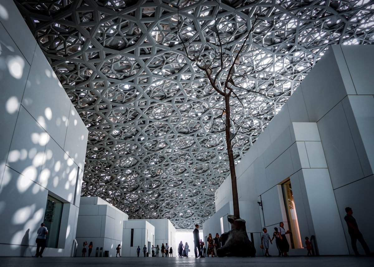 Louvre Abu Dhabi silver double layered dome