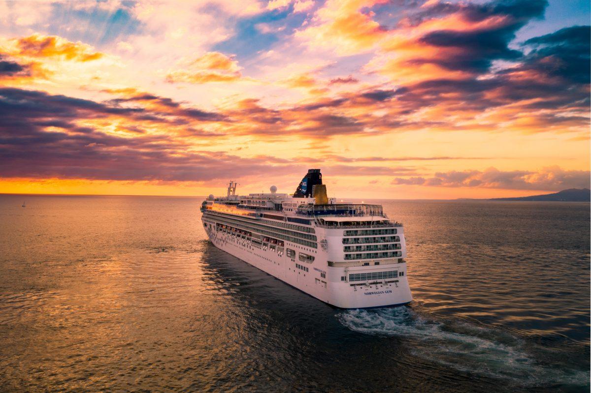 Sunset Cruising on the sea