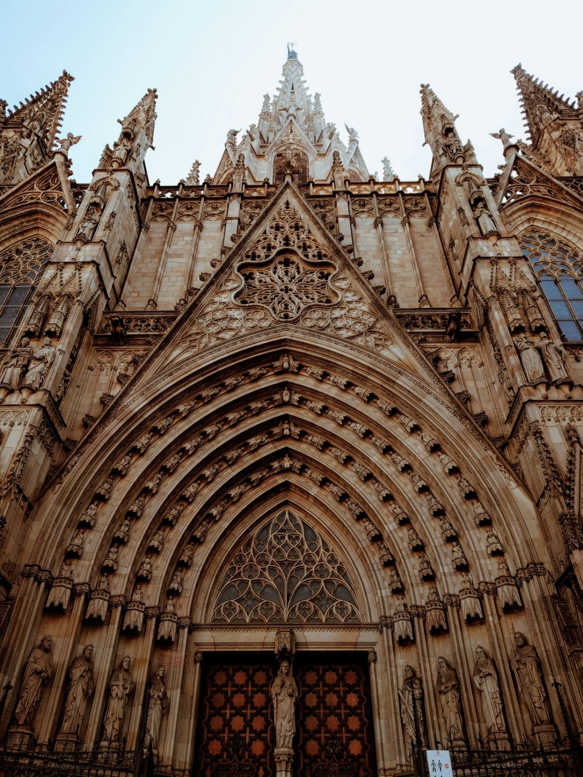 Majestic image of the Barcelona Cathedral