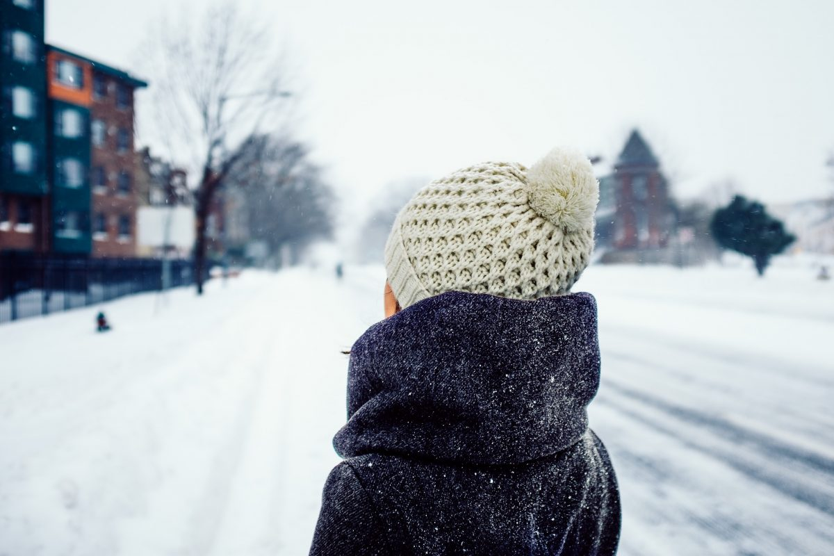 Women with a winter beanie