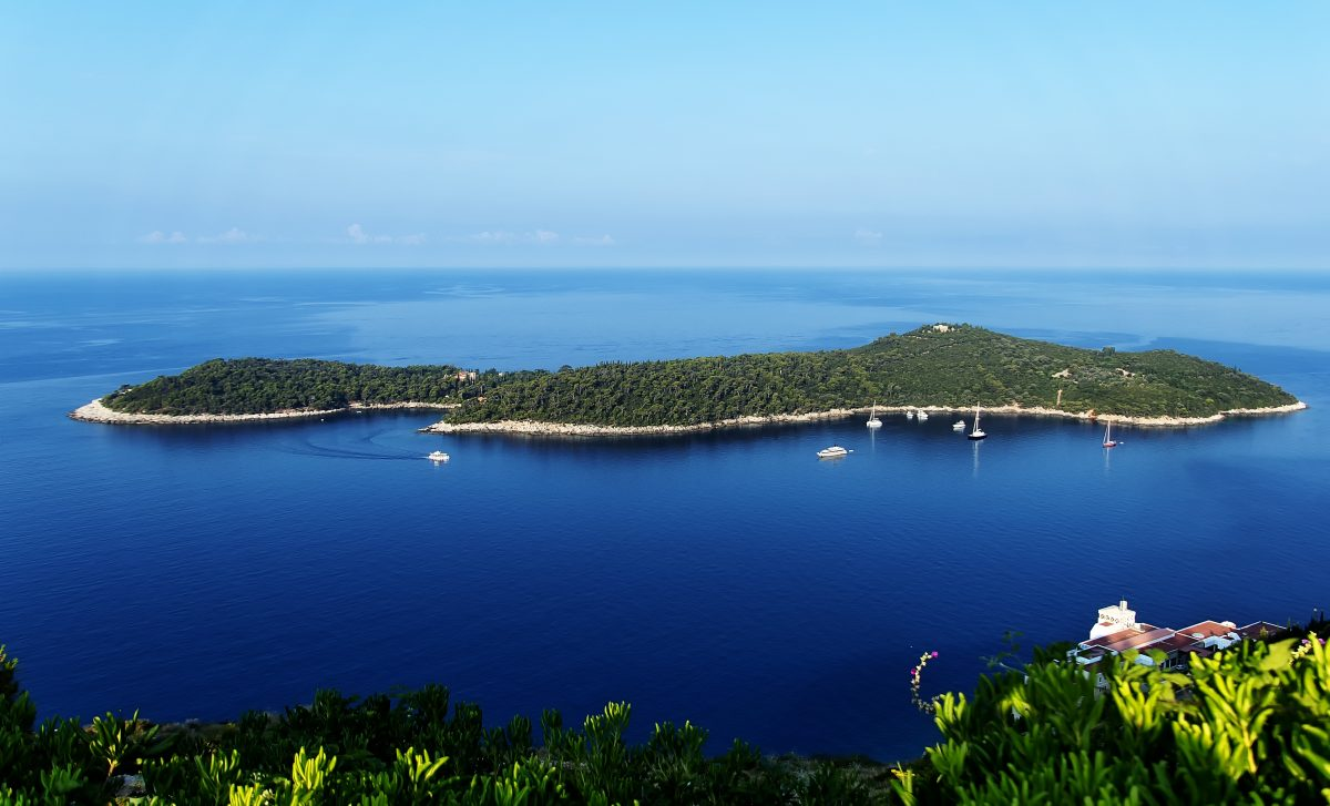View of Lokrum Island Dubrovnik from Cable Car