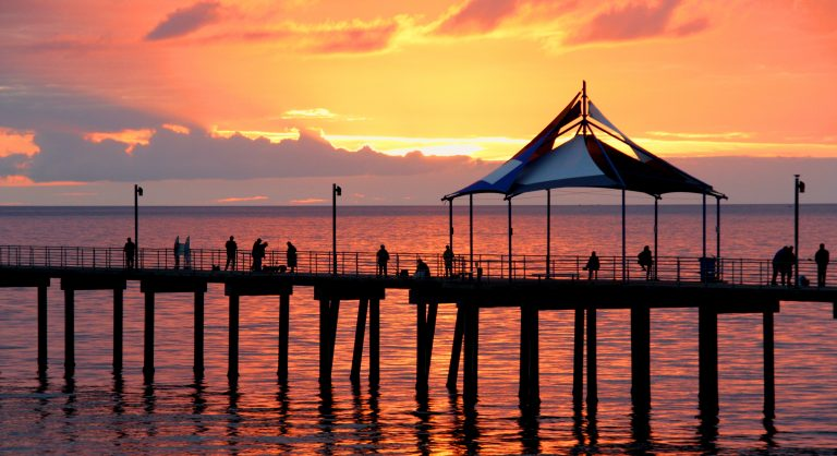 Sunset at Noarlungha Pier Adelaide South Australia