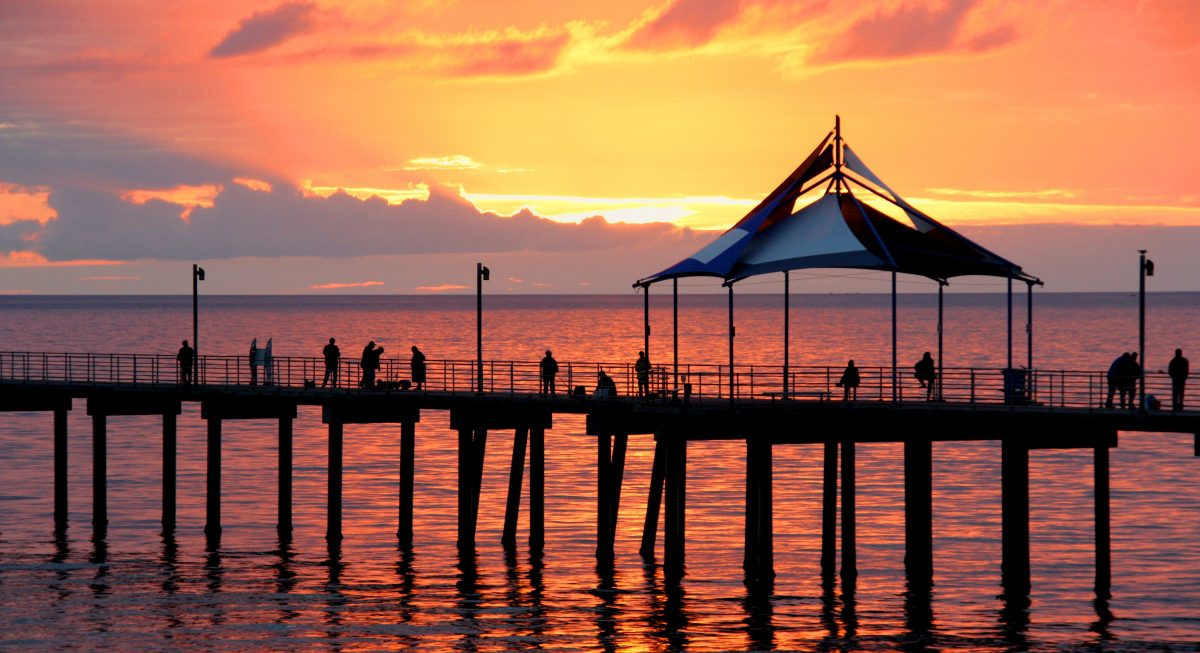Sunset at Noarlungha Pier Adelaide South Australia