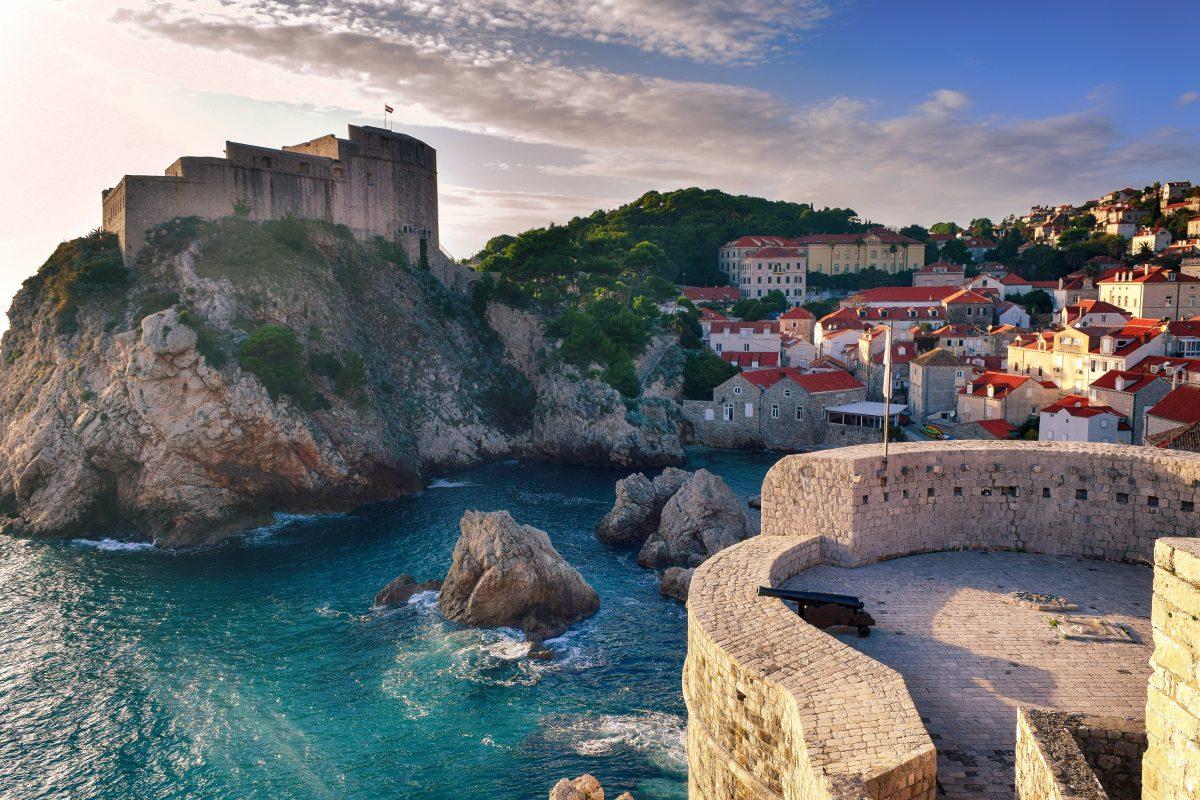 Dubrovnik Lovrijenac panoramic view overlooking the sea