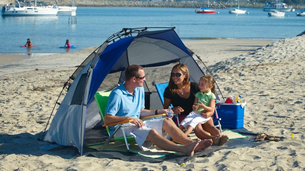 new style 7031d 2741d TouristSecrets | Guide To Buying The Best Beach Tent For A ...