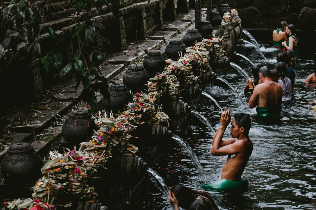Purification Spring in Bali, Indonesia