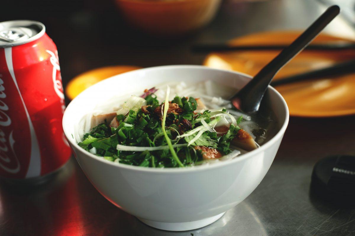 Delicious beef pho in Hanoi