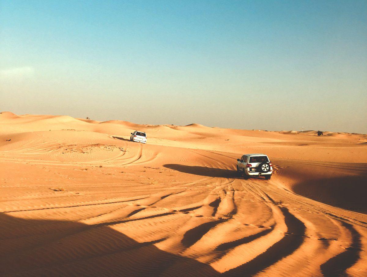 Dune bashing at Abu Dhabi golden desert
