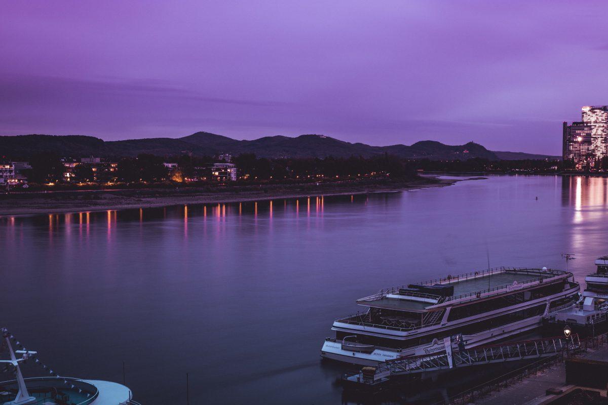 Evening at Rhine River Bonn