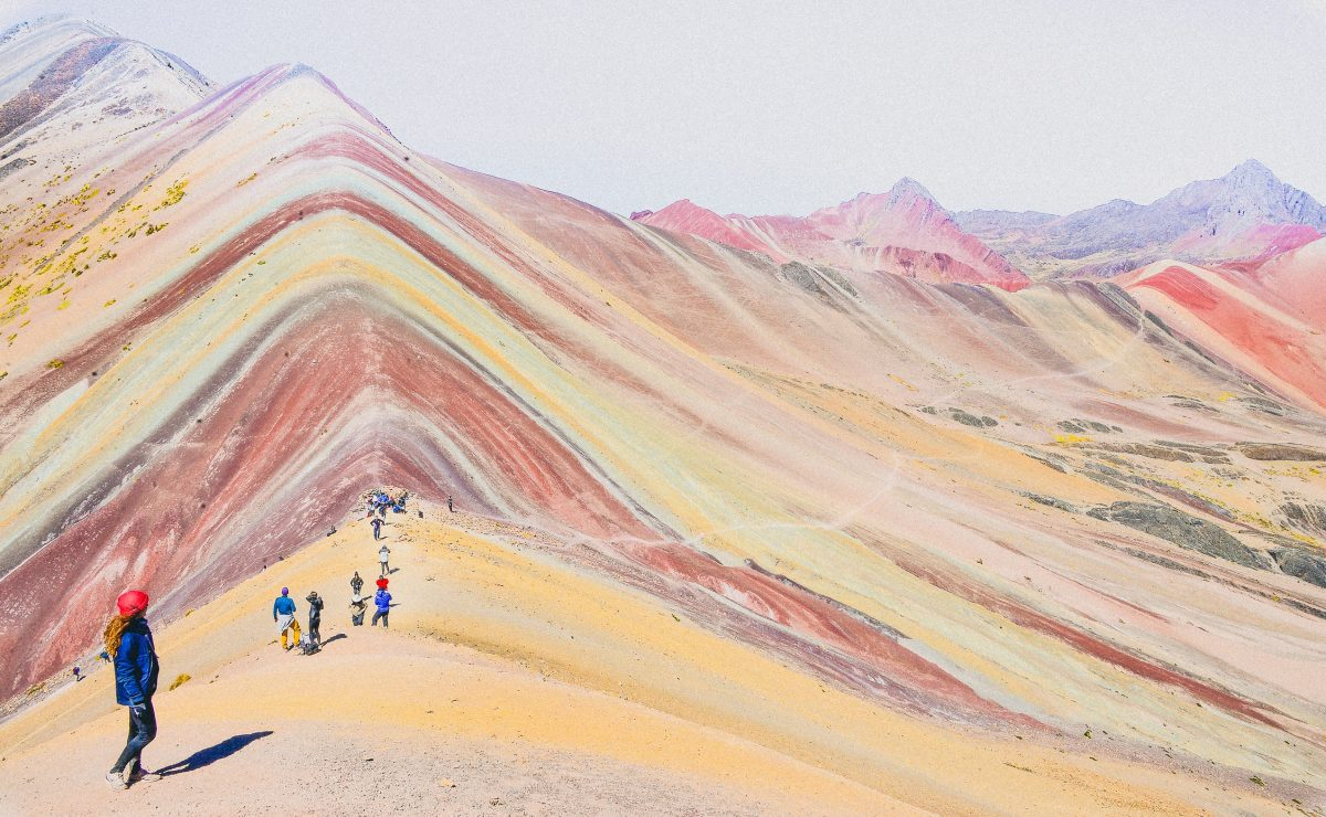 Colourful mineral rainbow mountains in Peru