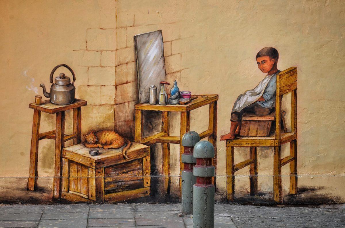 Lodhi Art district, New Delhi, India