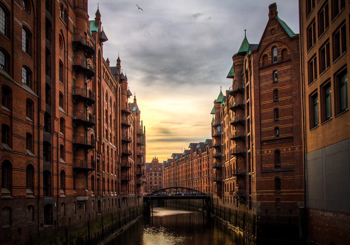 Warehouse district in Hamburg, Germany
