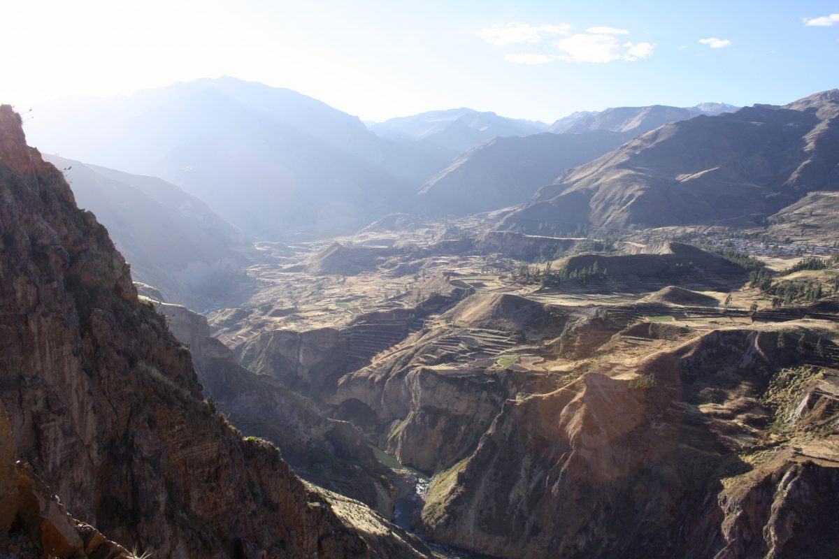 Beautiful Colca Canyon view from the peak