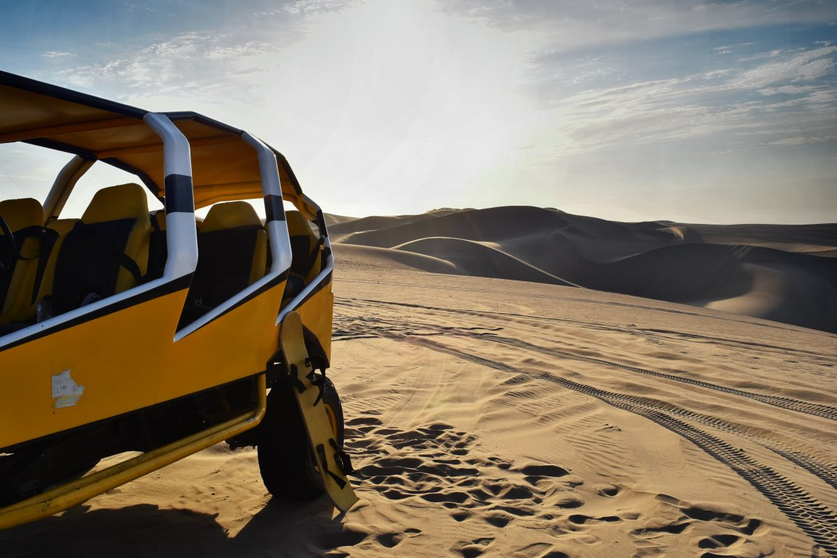 Dunes buggy ride at Huacachina Dunes Peru