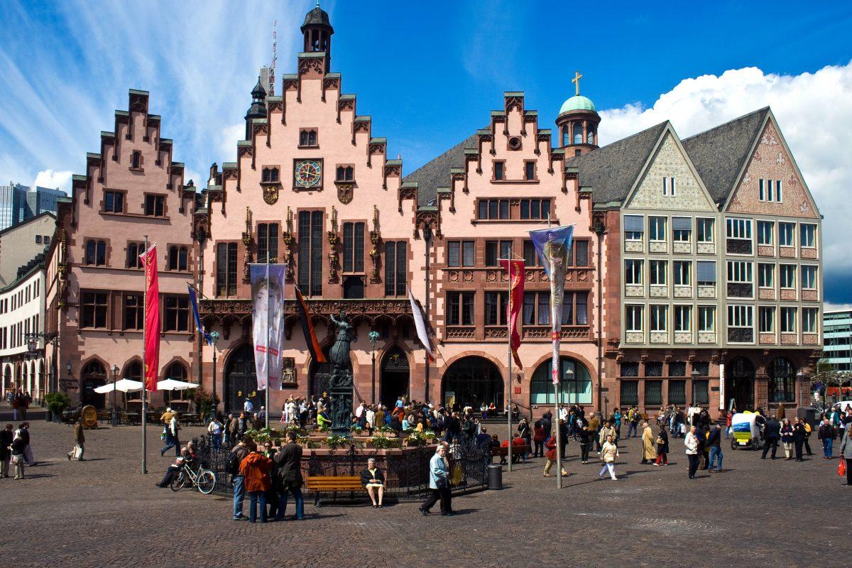 Frankfurt old town pedestrian street