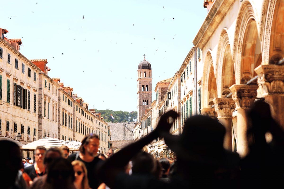 Strolling at Stradun Street Dubrovnik