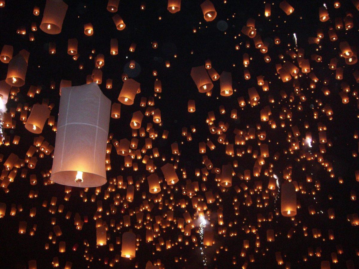 Beautiful lantern festival in Chiang Mai, Thailand