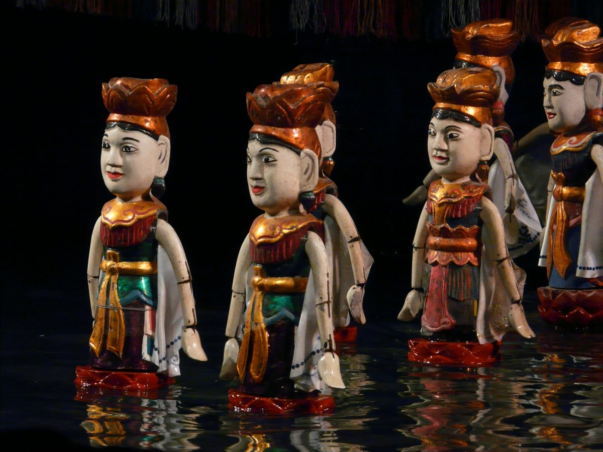 Traditional Vietnamese water puppet show at Hanoi