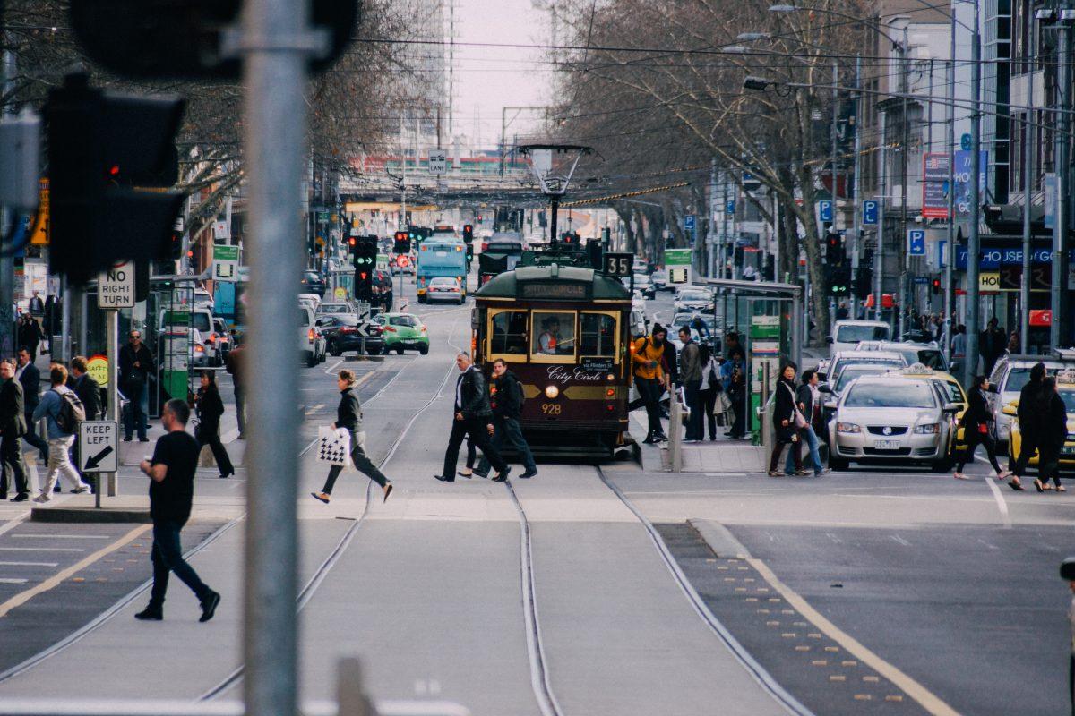 Free City Tram in Melbourne, Australia