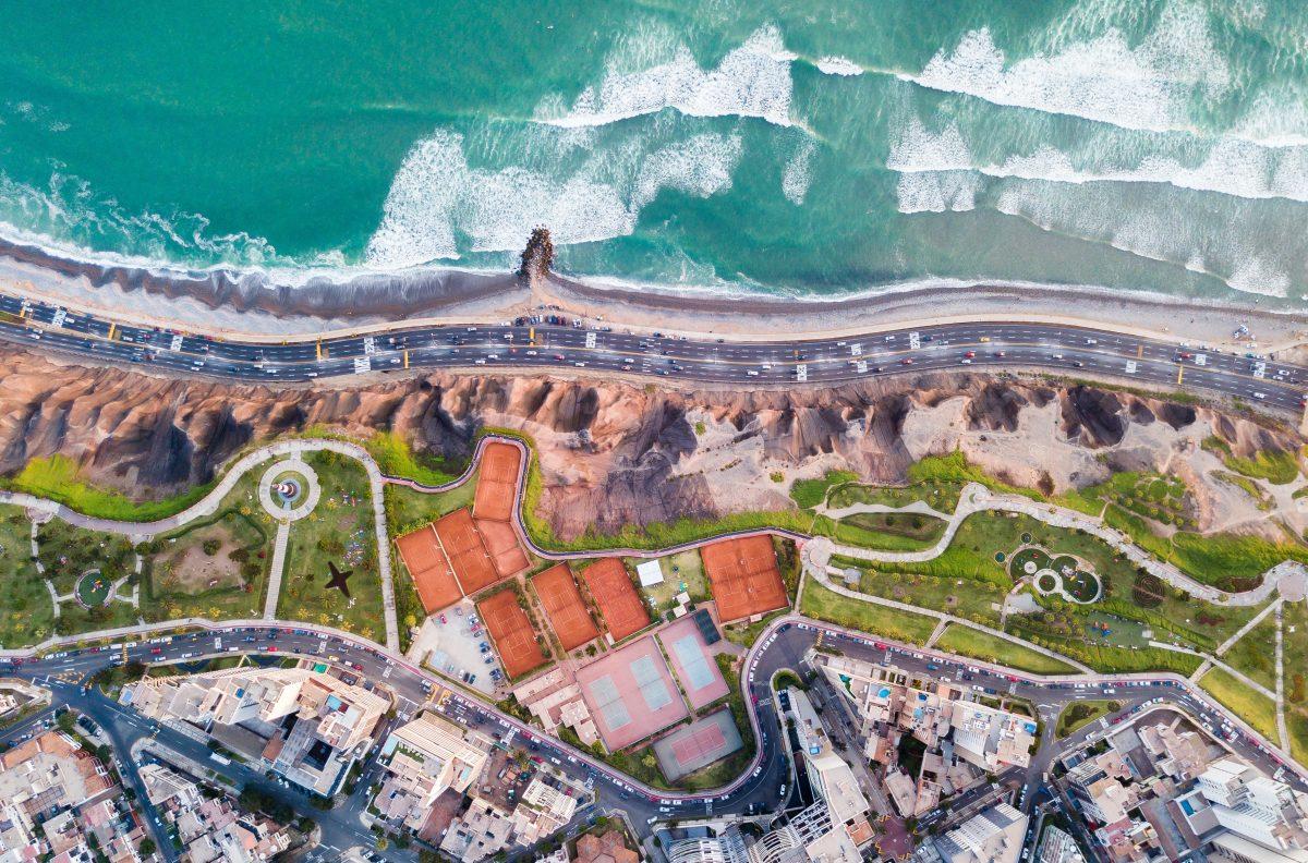 Beautiful beach at Lima city, Peru