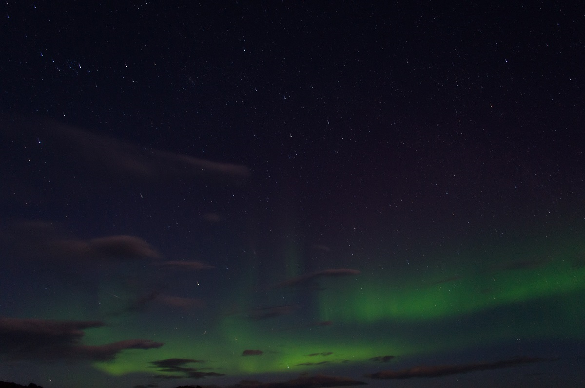Aurora borealis on a night sky