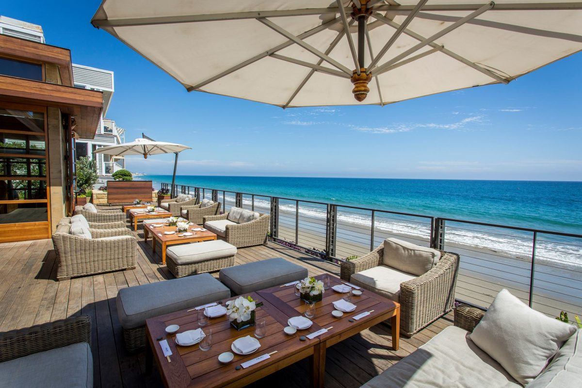 Nobu Malibu Ocean View Outdoor seating