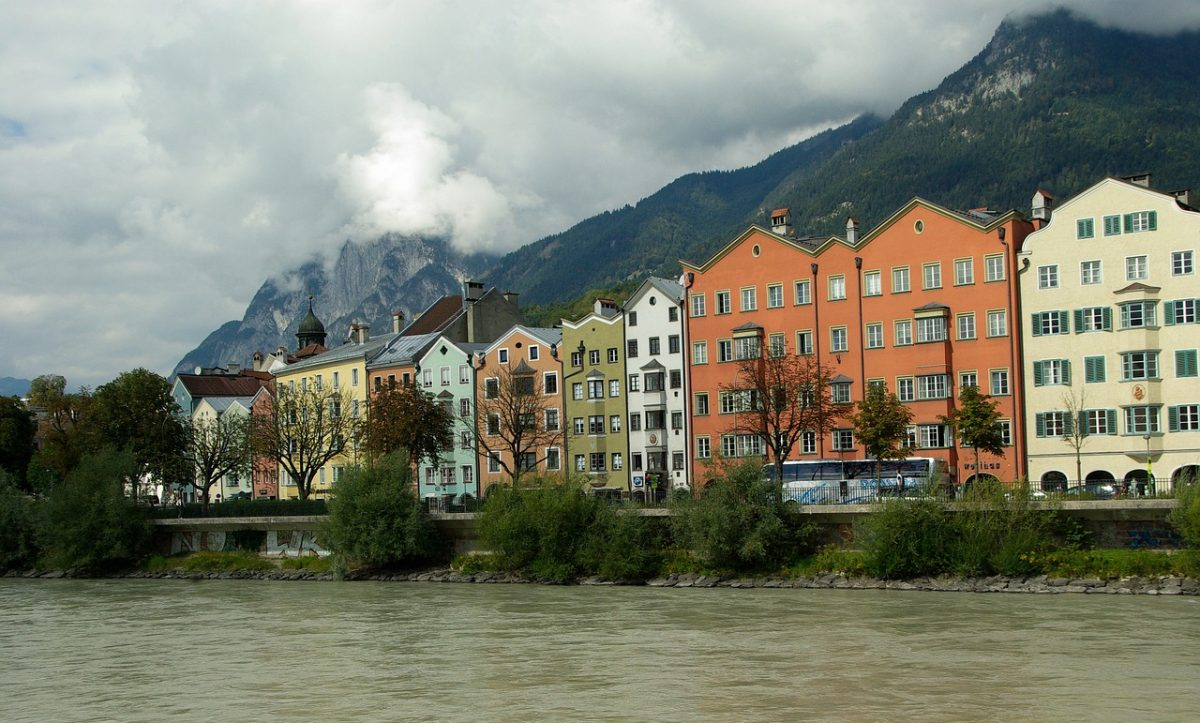 Colorful buildings and river