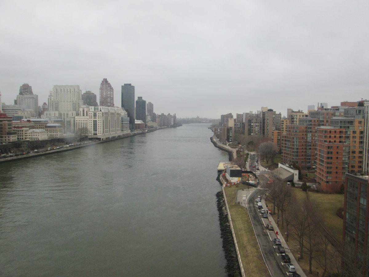 View From Roosevelt Island Aerial Tram, Manhattan, New York