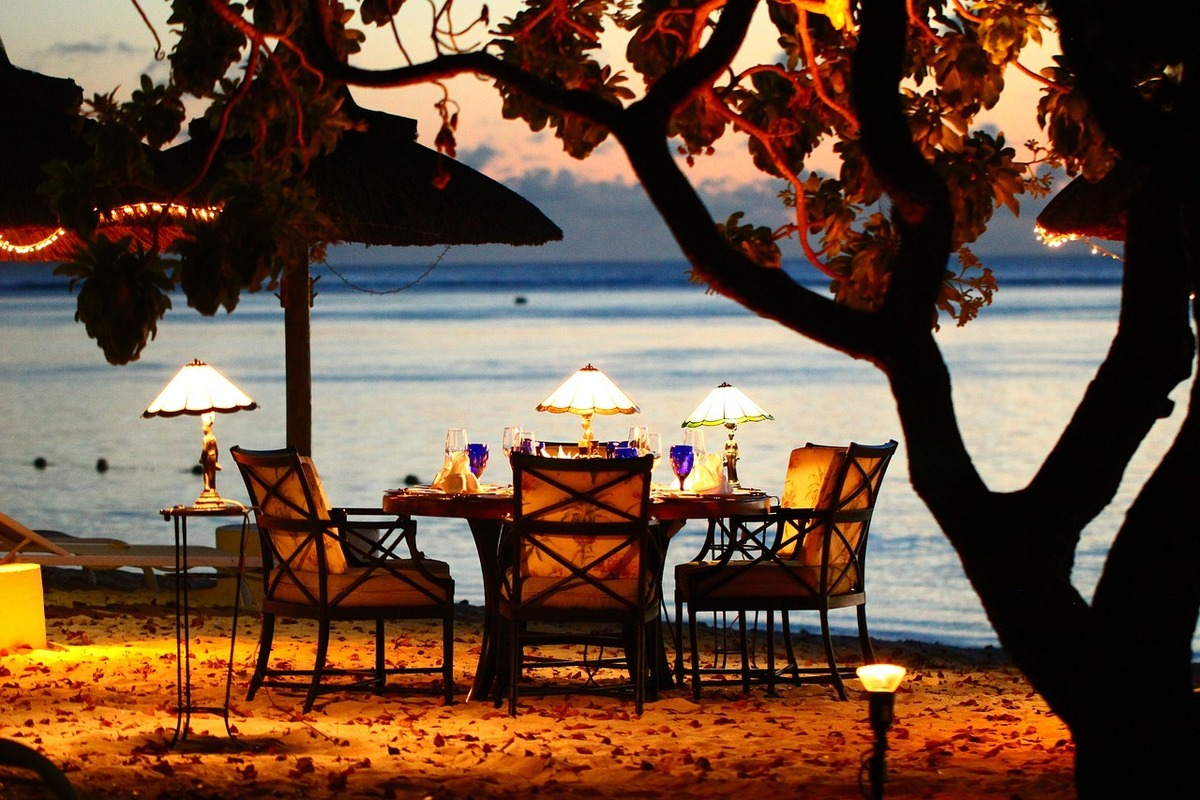Meal by the beach, Puerto Escondido, Mexico