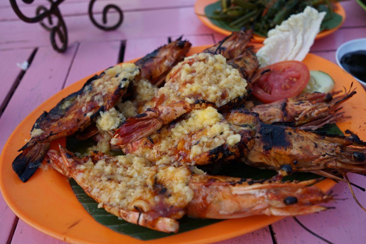 Seafood at jimbaran beach, Bali