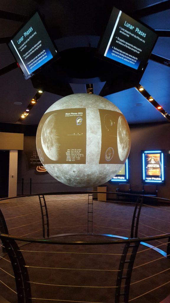 Display at Clark Planetarium
