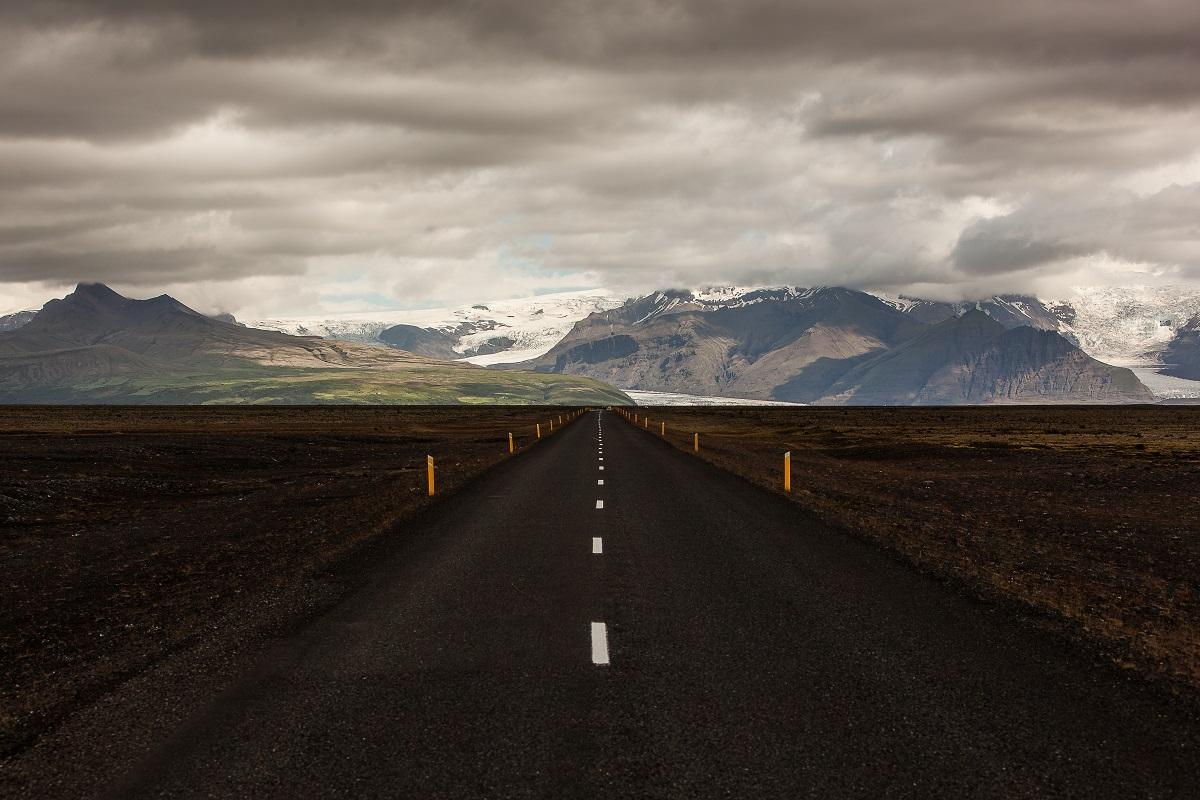 The landscape of asphalt road