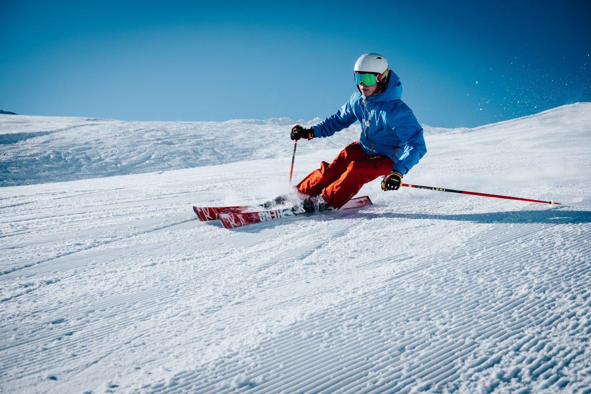 Man skiing on the snow