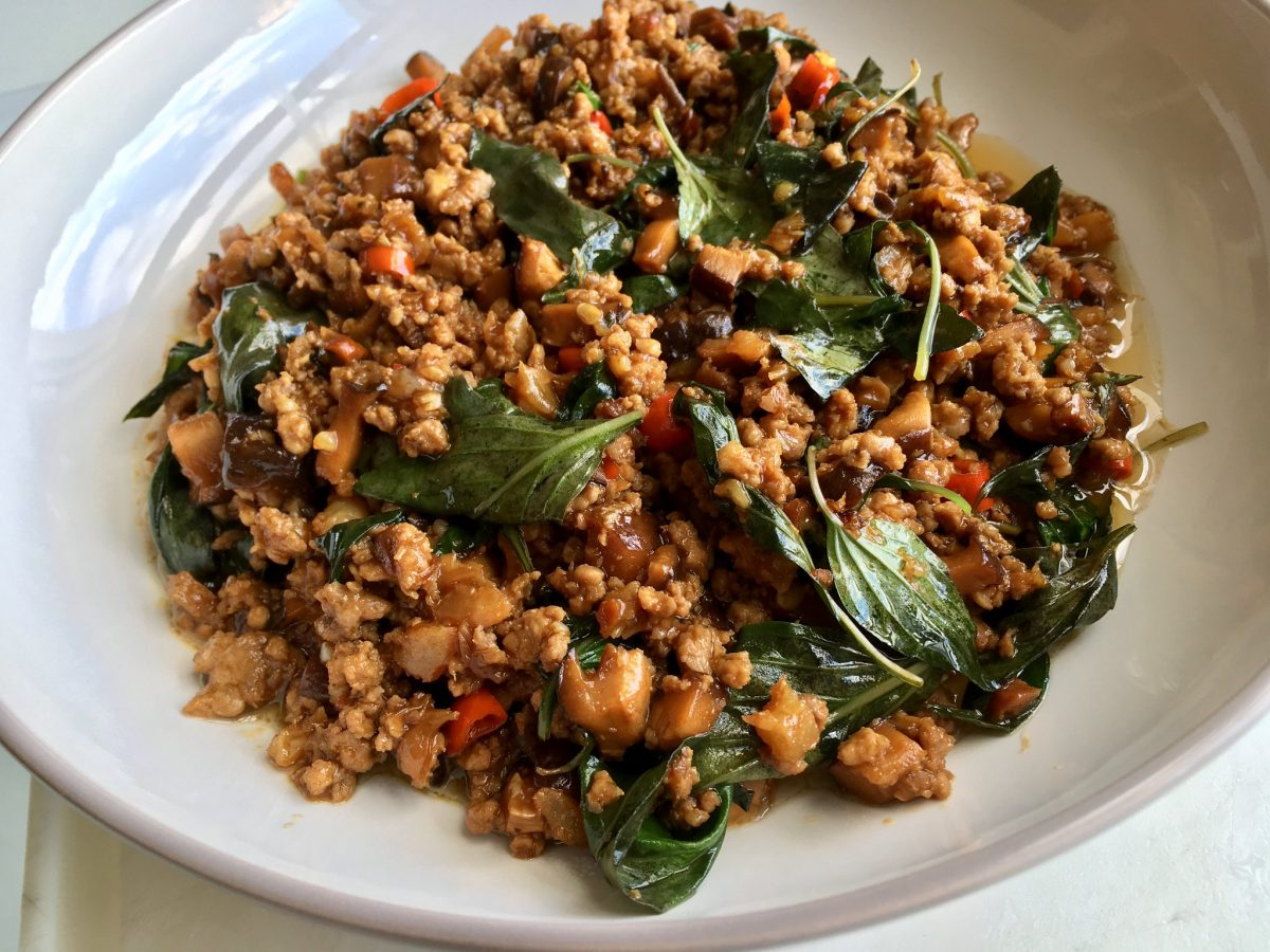 Thai Food, Pad Krapow, Stir Fry Holy Basil