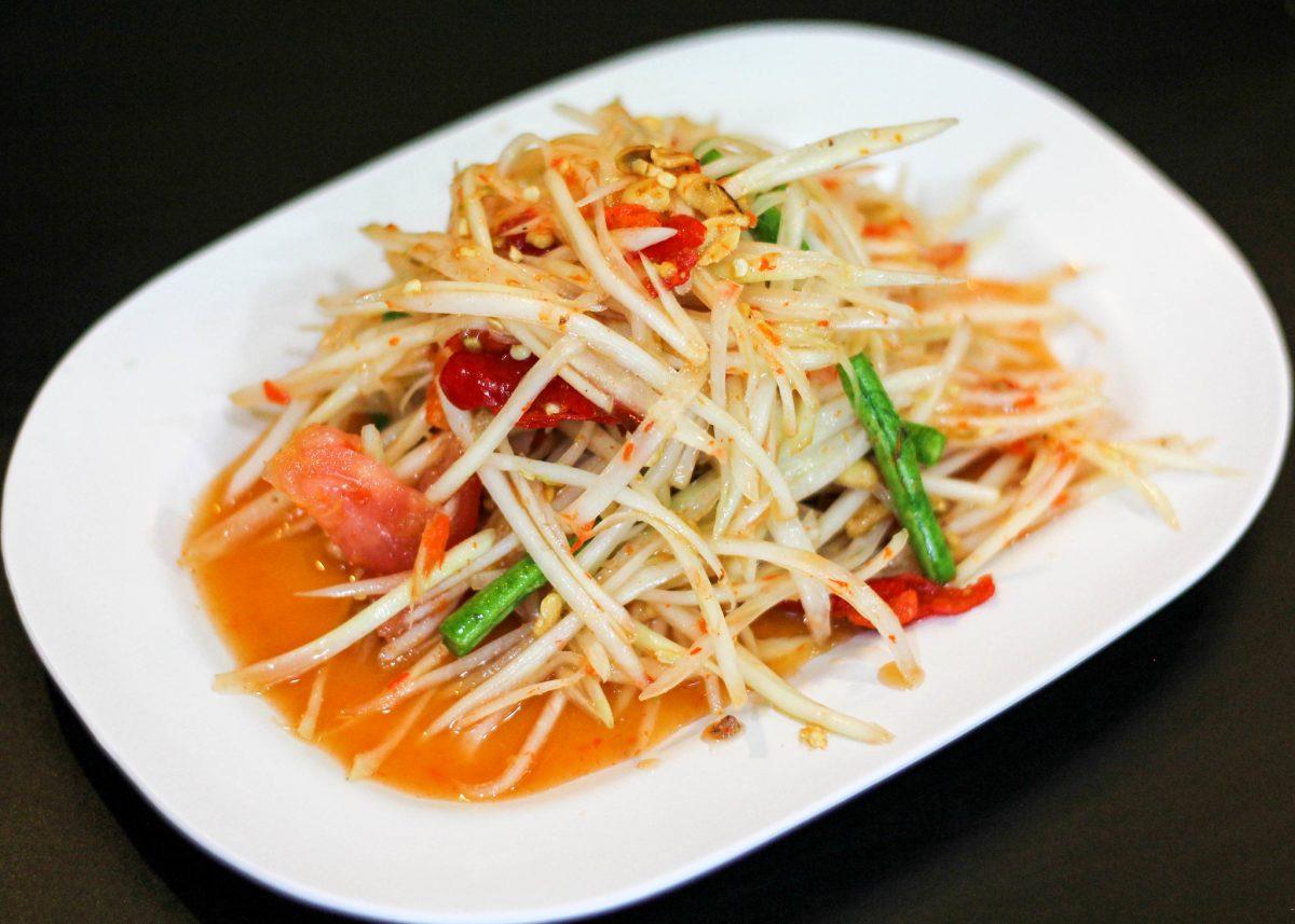 Thai Food, Som Tam, Som Tum, Green Papaya Salad