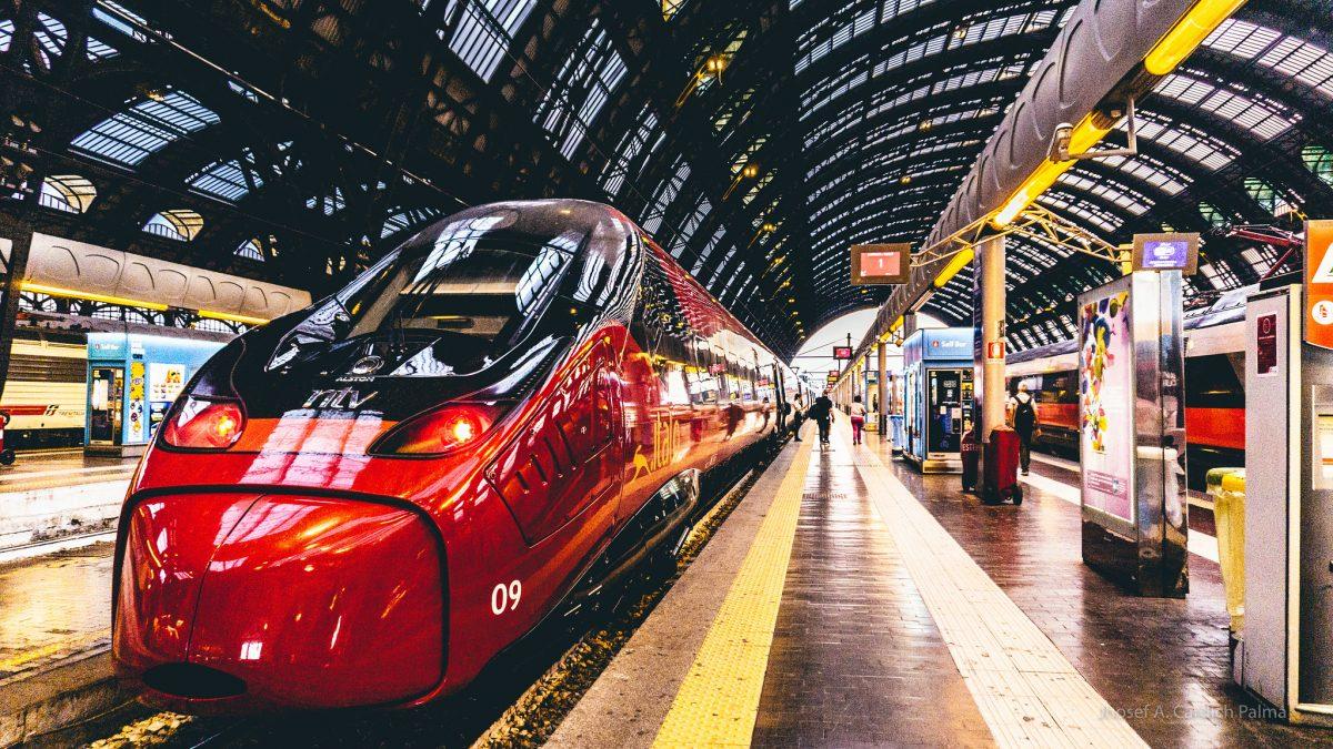 Lake Como, Train, Milan