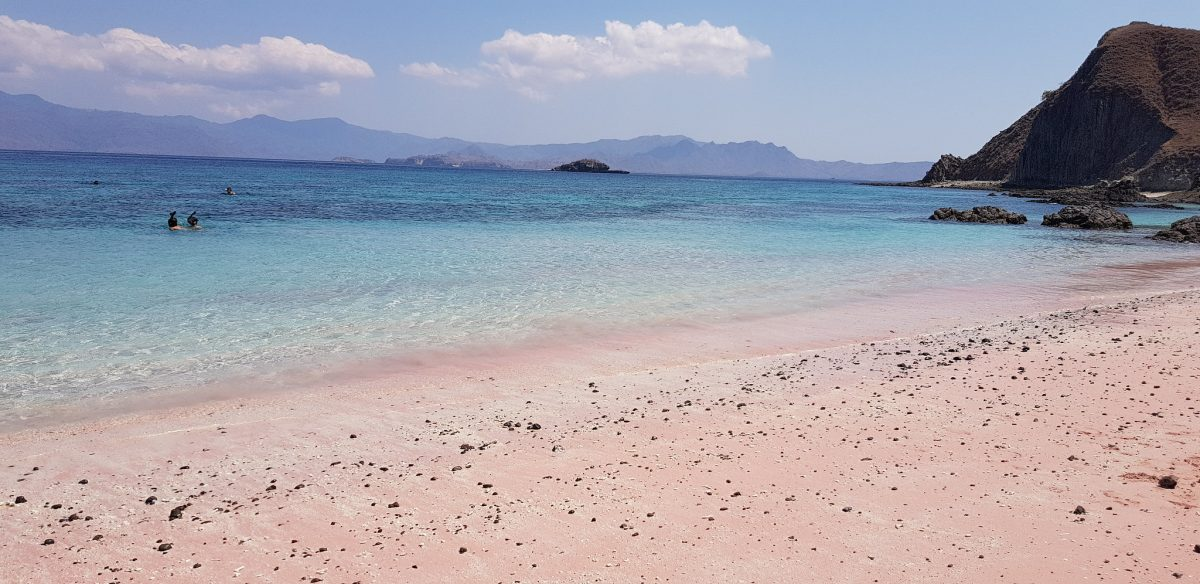Pink Beach of Komodo, Indonesia,
