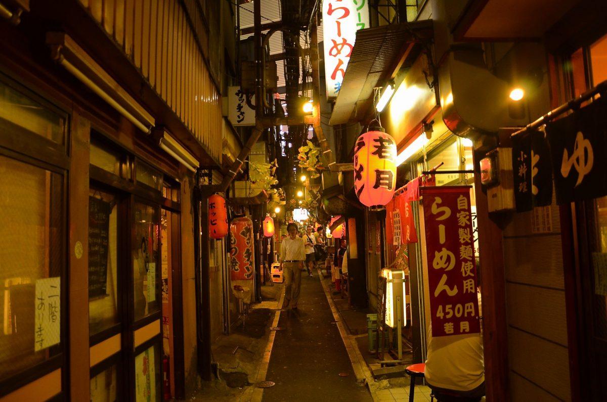 Omoide Yokocho - Memory Lane at night
