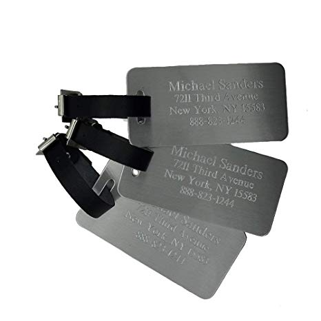 Custom Aluminum Luggage Tag