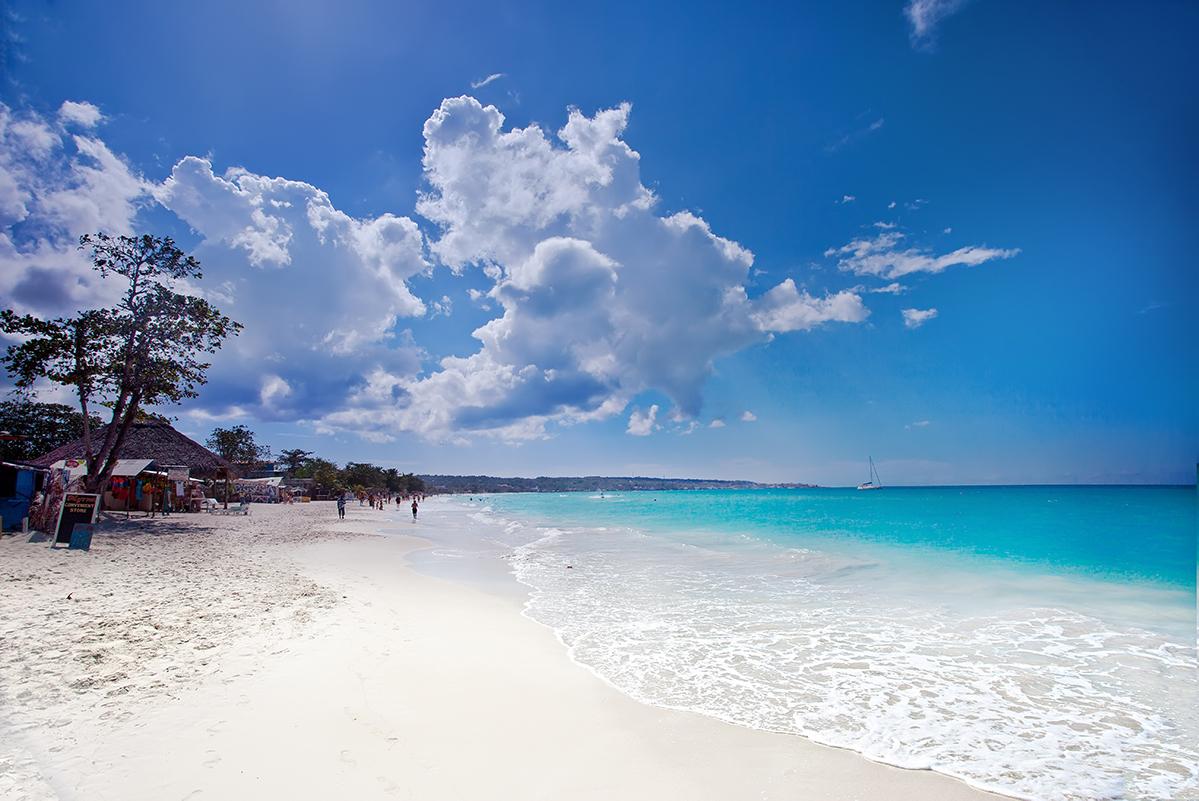 Seven-Mile Beach, A Jog In Jamaica