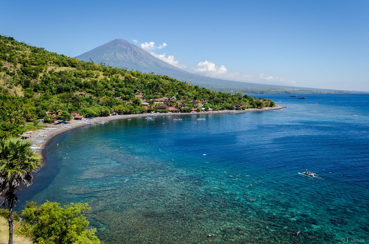 Amed picturesque beach