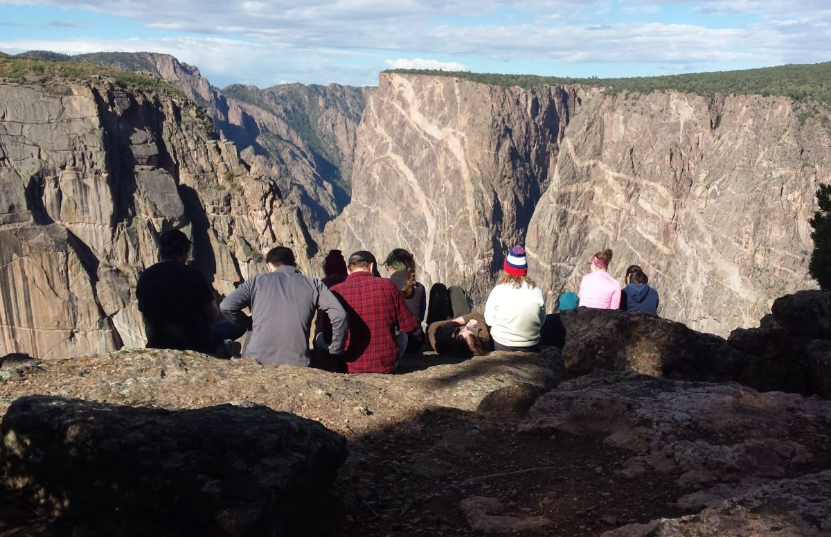 View point at Black Canyon  of the Gunnision National Park, Colorado