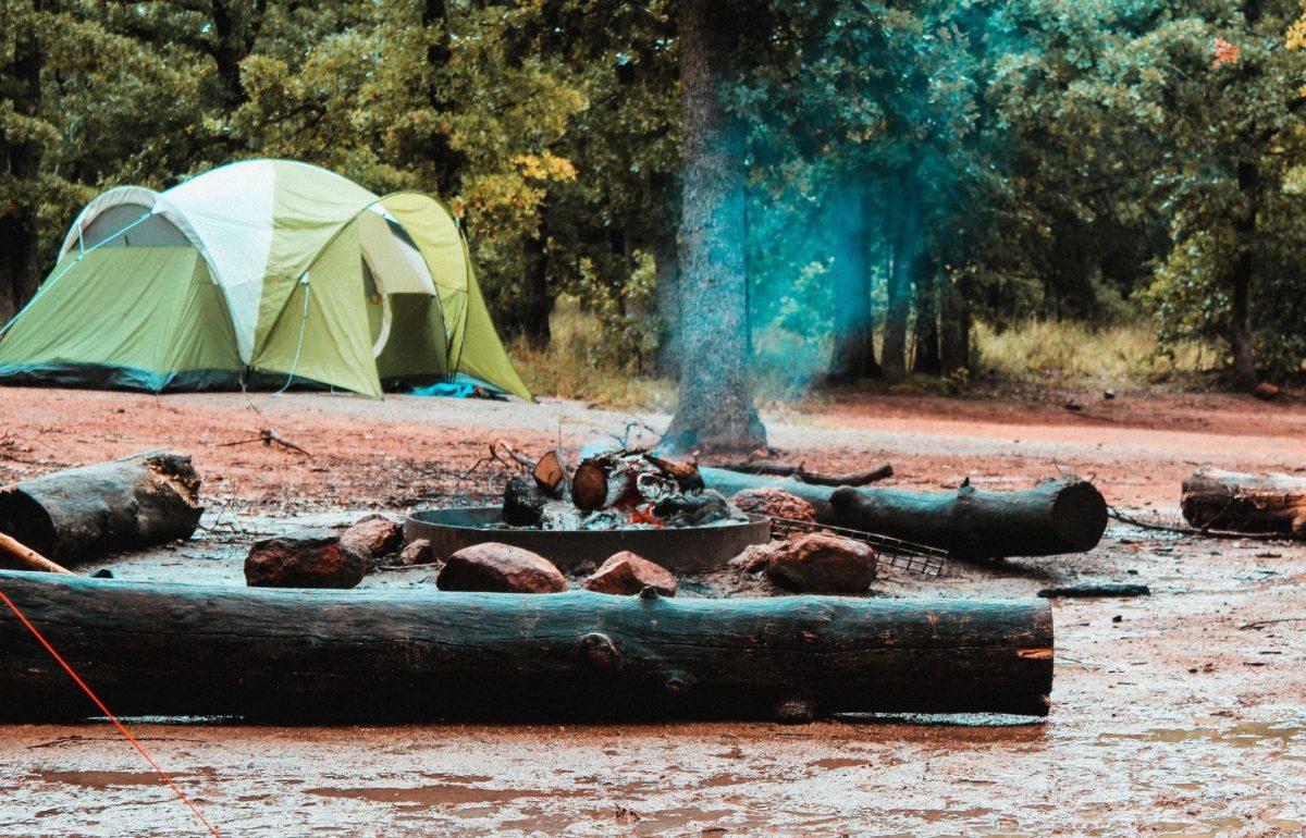 Firecamp at Congaree National Park, South Carolina