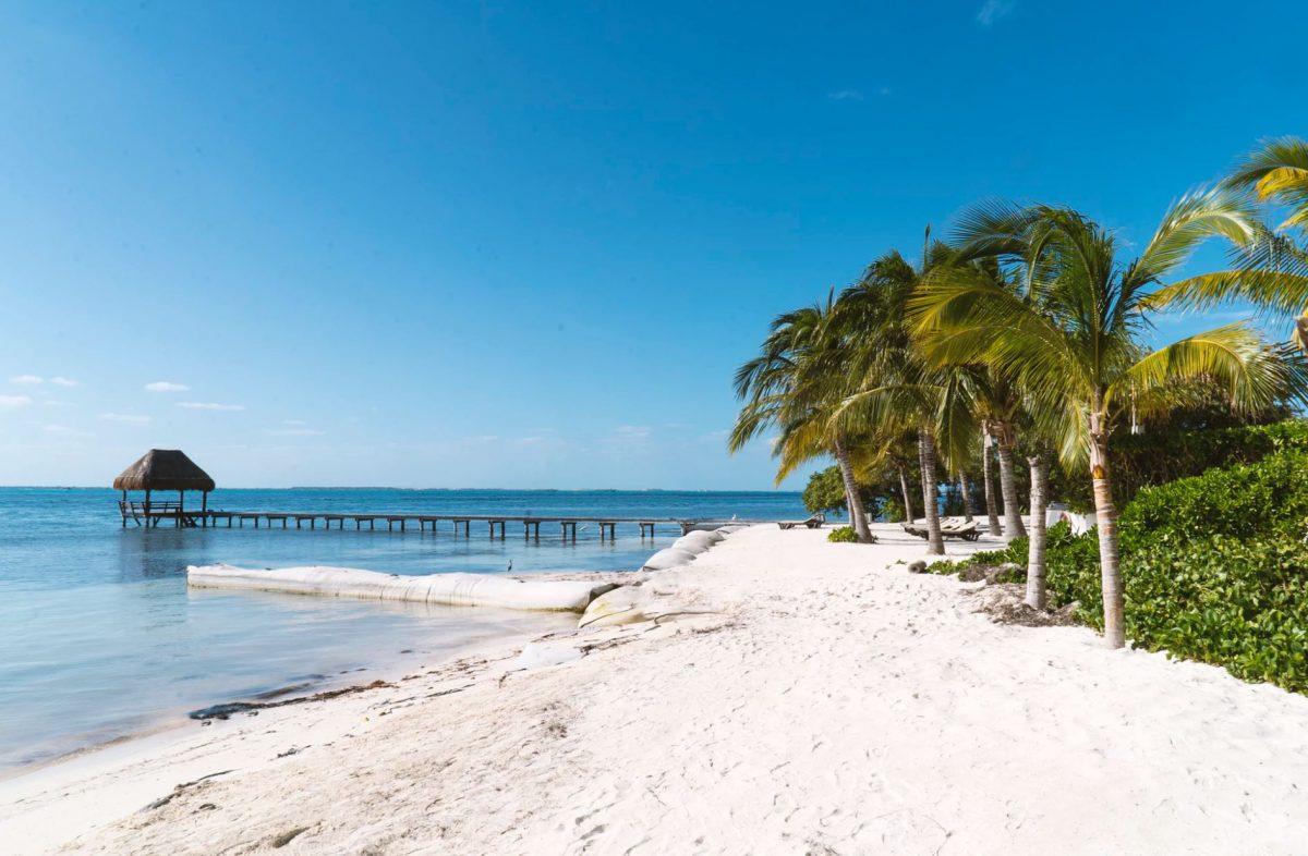 Pristine beaches in Cancun, Mexico |