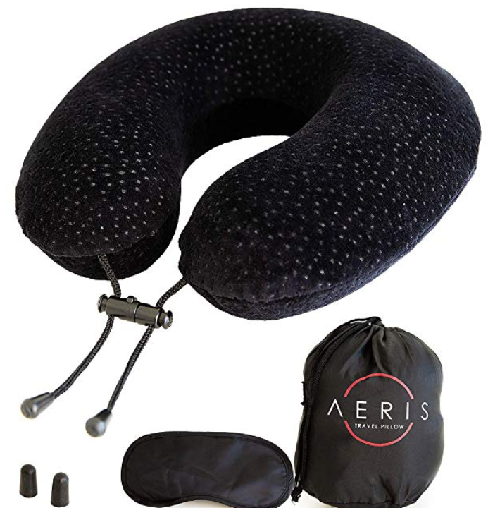 Aeris Memory Foam Travel Neck Pillow Kit