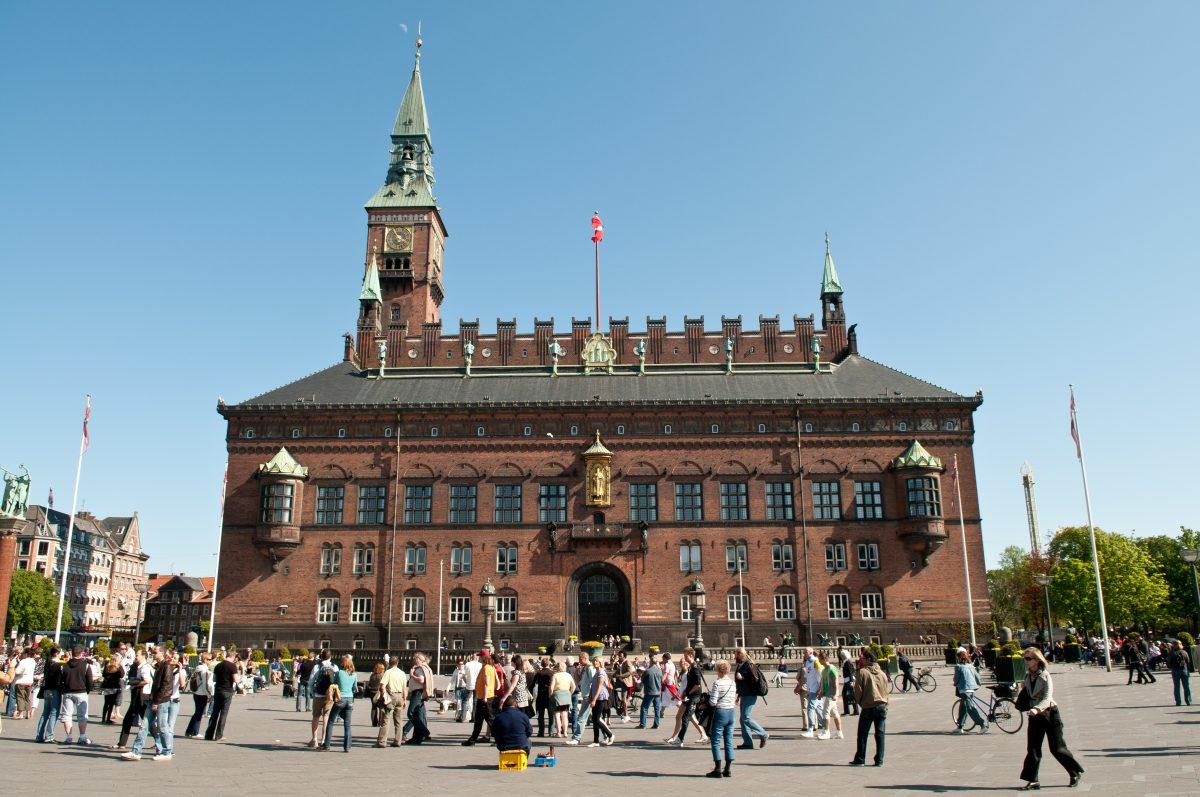 Panoramic view of Copenhagen city hall