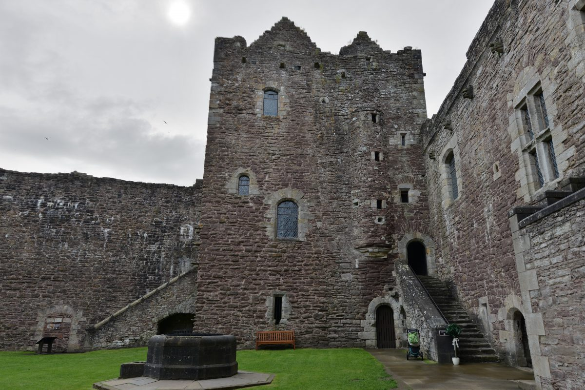 Doune Castle was used for the setting for the 1975 film, Monty Python and the Holy Grail as well as the other productions such as Game of Thrones and Outlander.