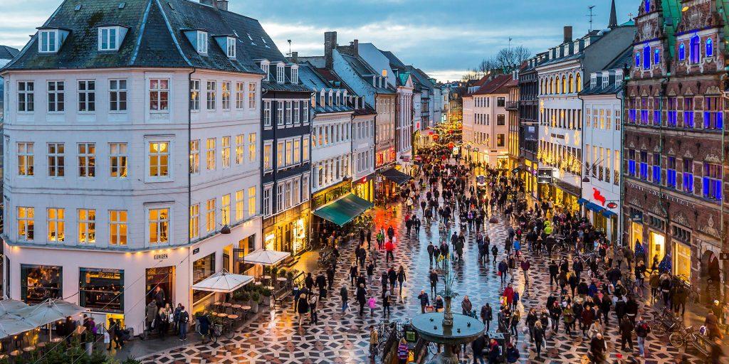 Strøget Pedestrian Copenhagen