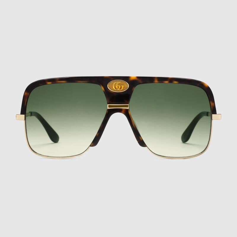 Green Gucci Sunglasses