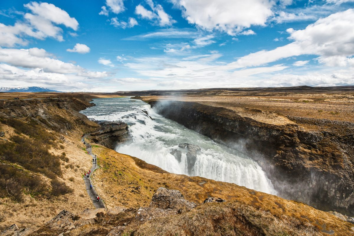 The powerful Gulfoss of Iceland